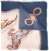 Stella McCartney Western horse print scarf
