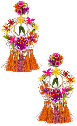 Mercedes Salazar Flower Statement Earrings