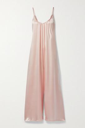 POUR LES FEMMES Silk-charmeuse Jumpsuit - Pink