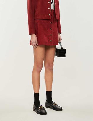 Claudie Pierlot Caprice high-waist suede mini skirt