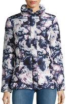 Eliza J Floral Puffer Coat