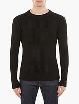 S.n.s. Herning Black Ribbed Wool Sweater