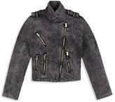 Butter Shoes Girls' Mineral Washed Fleece Moto Jacket - Big Kid