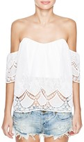 Lucy Paris Off-The-Shoulder Lace Sweetheart Top - Bloomingdale's Exclusive