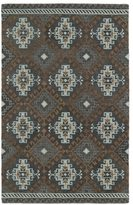 Leon Hand-tufted de Tribal Grey Rug (3'6 x 5'6)