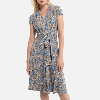 Anne Weyburn Knee-Length Tea Dress in Floral Print