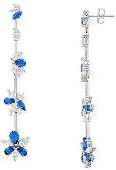 Nadri Loa Stone Cluster Linear Drop Earrings