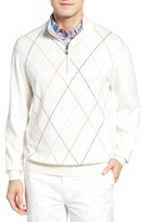 Bobby Jones Men's Argyle Quarter Zip Sweater