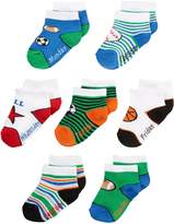 Nuby Baby Boy Infant 7-Pack Super Soft Socks, Day of the Week
