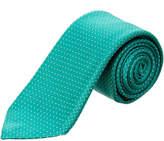 Canali Green Dot Silk Tie