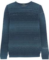Balmain Metallic Open-Knit Cotton-Blend Sweater