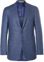 Canali - Blue Kei Slim-fit Super 120s Wool-bouclé Blazer