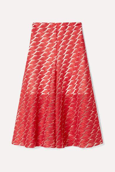 Akris Embroidered Tulle Skirt