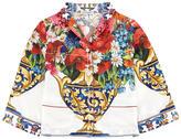Dolce & Gabbana Mini Me flower print pyjama shirt Caltagirone