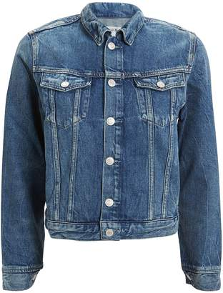 A Gold E Agolde Vivian Shrunken Denim Jacket