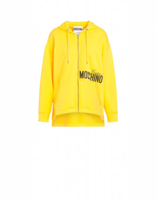 Moschino Couture Cotton Sweatshirt Woman Yellow Size 38 It - (4 Us)