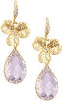 Indulgems Hydrangea Drop Earrings w/ Pink Amethyst