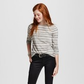 Women's Long Sleeve Crew T-Shirt Striped - Mossimo Supply Co. (Juniors')