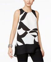 INC International Concepts Colorblocked High-Low Blouse, Only at Macy's