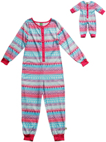 Dollie & Me Pink & Blue Stripe Bodysuit & Doll Outfit - Girls