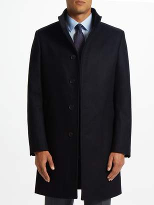 John Lewis & Partners Italian Funnel Neck Overcoat