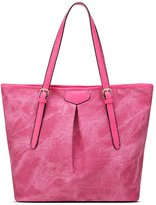 Tibes Women Denim Fabric Handbag Satchel Large Casual Tote Bag