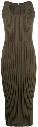 Mcq Swallow Ribbed Knit Bodycon Dress