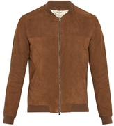 Etro Suede bomber jacket