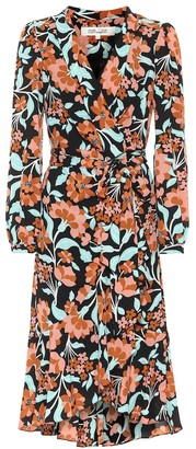 Diane von Furstenberg Carla Two floral crepe wrap dress