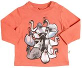 Stella McCartney Swans Organic Cotton Jersey T-Shirt