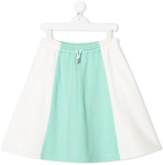 Marni colour block jersey skirt