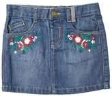 Burton Mens **Girls Mid Wash Embroidered Denim Skirt ( 18 months - 6 years)