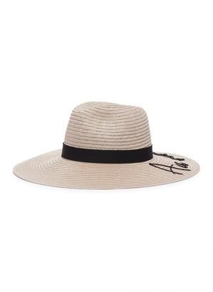 Eugenia Kim 'Emmanuelle' slogan embellished straw hat