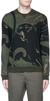 Valentino Panther camouflage print sweatshirt