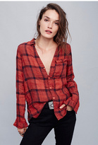 Cp Shades Womens PLAID LINEN SHIRT