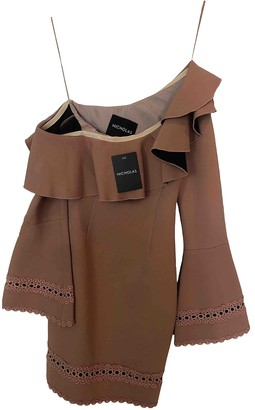 Nicholas Pink Cotton - elasthane Dress for Women