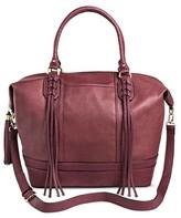 Sam & Libby Women's Faux Leather Weekender Handbag - Wine