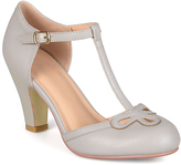 Journee Collection Gray Parley T-Strap Pump