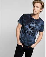 Express dye print graphic t-shirt