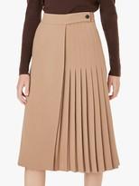 Hobbs Piper Pleated Skirt, Camel