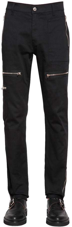Moschino 18cm Stretch Cotton Bull Biker Pants