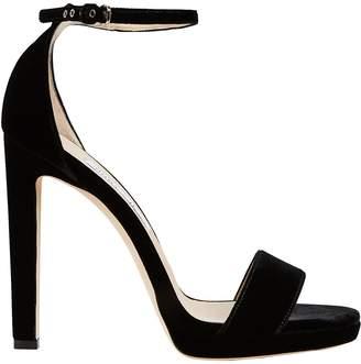 Jimmy Choo Misty Velvet Stiletto Sandals