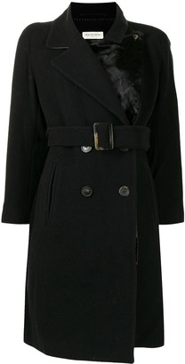 Dries Van Noten Pre-Owned Double-Breasted Belted Coat