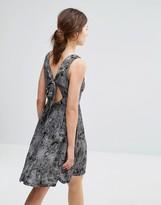 Brave Soul Print Tie Back Dress