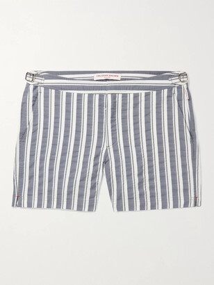 Orlebar Brown Setter Slim-Fit Short-Length Striped Seersucker Swim Shorts
