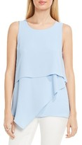 Vince Camuto Petite Women's Tiered Asymmetrical Blouse