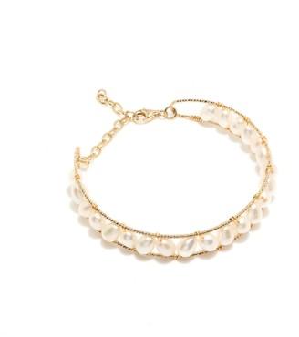 Coco Mango Jewellery Lucia 14k Filled Pearl Cuff Bracelet