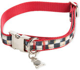 Mackenzie Childs MacKenzie-Childs Medium Courtly Check Couture Red Dog Collar