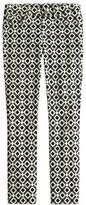 Toothpick jean in geometric print