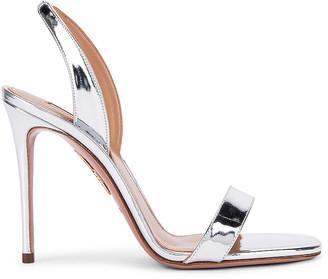 Aquazzura So Nude 105 Sandal in Silver | FWRD